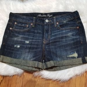 American Eagle Outfitters rolled hem jean shorts